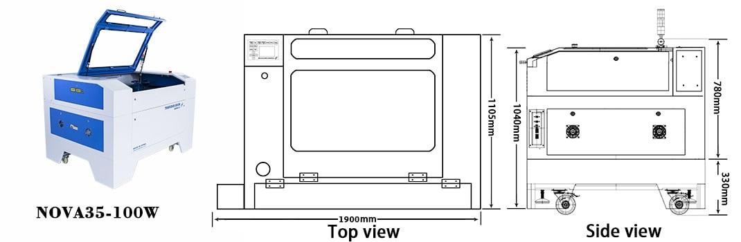 TH laser : Nova 35-80 W : Laser Cutter, image 2