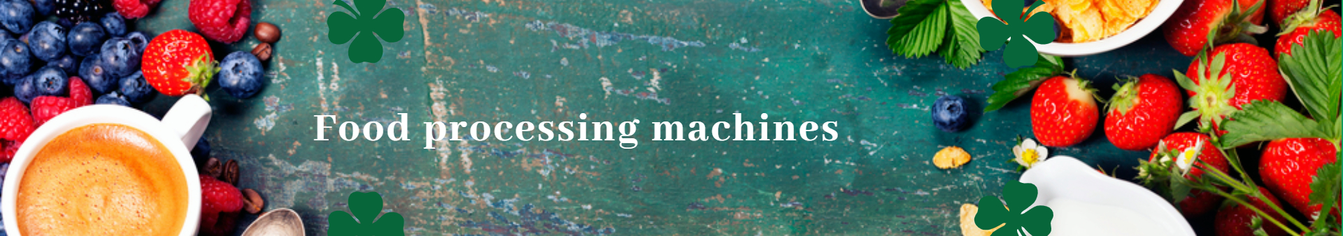 Food processing machines - Banner